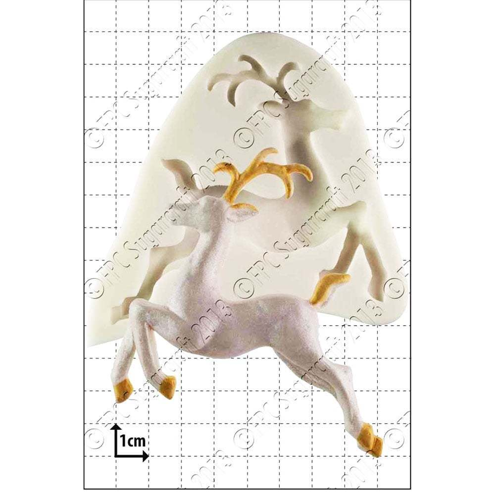 FPC - Leaping Deer Silicone Mould - Καλούπι Ελάφι με Άλμα