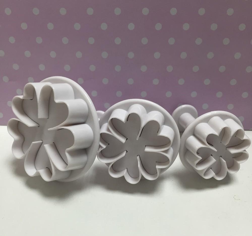Culpitt Plunger Cutters -FLOWERS -Κουπάτ με Εκβολέα -Λουλούδια 3 τεμ