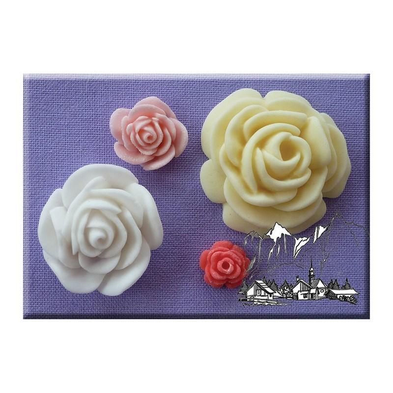 Alphabet Moulds - Roses - Τριαντάφυλλα Καλούπι - 7,5εκ