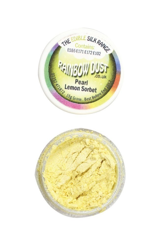 "Rainbow Dust -Edible Dust -Pearl Lemon Sorbet-Βρώσιμη Σκόνη Περλέ - ""Σορμπέ Λεμόνι"""