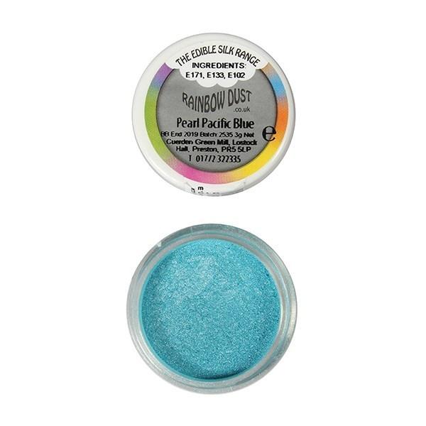Rainbow Dust - Edible Dust Pearl Pale Pacific Blue - Βρώσιμη Σκόνη Περλέ Μπλε του Ειρηνικού