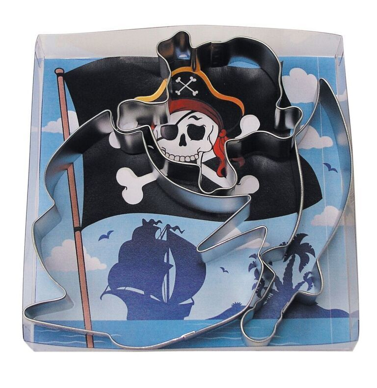 By AH - Cookie Cutter Pirate Ship set of 3 - Κουπάτ Πειρατικό Καράβι σετ 3 Τεμαχίων - 9 - 11,5εκ