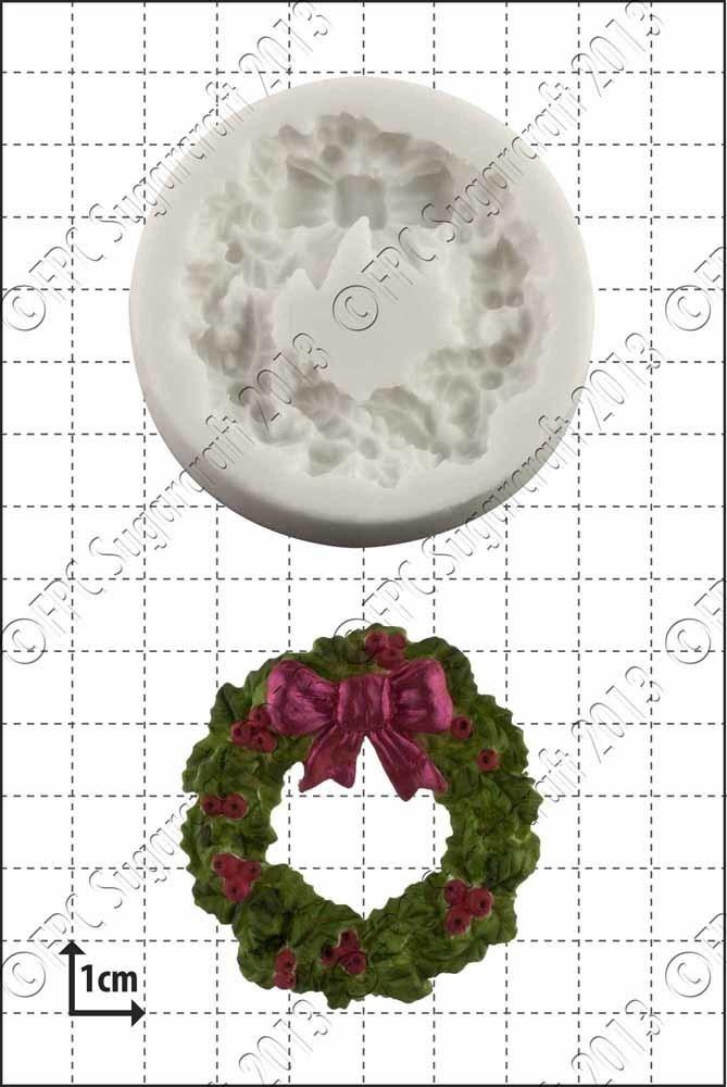 FPC - Holly Wreath Silicone Mould - Καλούπι Γιορτινό Στεφάνι