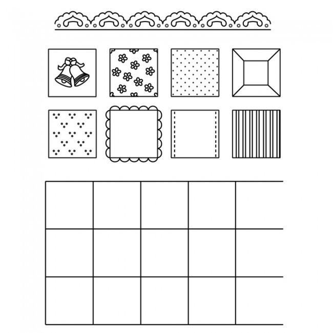 Patchwork Cutters - Squares - Κουπάτ Πλέγμα Τετραγώνων - 12.5x7.5εκ