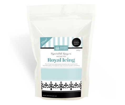 Squires Black Royal icing Mixture 500gr -Μείγμα για Αυγόγλασο 500γρ-ΜΑΥΡΟ.