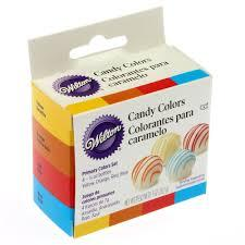 Wilton - Candy Colours Set of 4 colours Yellow, Red, Orange & Blue-Σετ 4 χρωμάτων για σοκολάτα