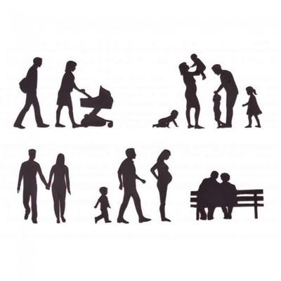 Patchwork Cutters - Family Silhouette Set - Κουπάτ Μέλη Οικογένειας