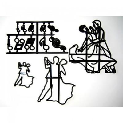 Patchwork Cutters - Dancing Figures - Κουπάτ Χορευτικές Φιγούρες - To Μεγαλύτερο 13x11.5εκ
