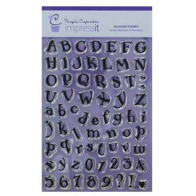 impressit™ Alphabet & Numbers Funky - Αλφάβητος & Νούμερα - Μοντέρνα