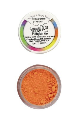 Rainbow Dust - Edible Dust Matt Pumpkin Pie - Βρώσιμη Σκόνη Ματ Πορτοκαλί Κολοκυθόπιτα