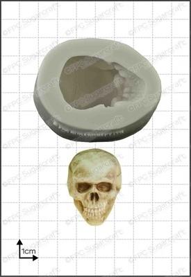FPC - 3D Skull Silicone Mould - Καλούπι Τρισδιάστατο Νεκροκεφαλή