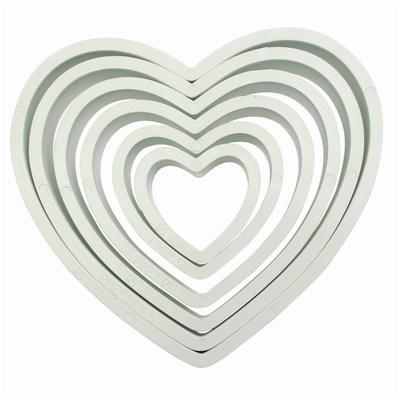 PME Basics -Set of 6 -HEART Cutters -Βασική Σειρά Κουπάτ Καρδιές 6 τεμ