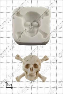 FPC  - Skull & Crossbones Silicone Mould - Καλούπι Νεκροκεφαλή με Κόκκαλα