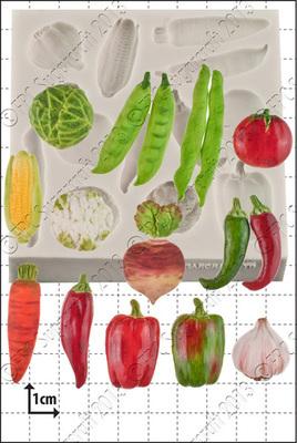 SALE!!! FPC -Silicone Mould -VEGETABLES -Καλούπι Σιλικόνης Λαχανικά