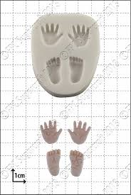 FPC - Tiny Hands and Feet Silicone Mould - Καλούπι Μικρά Χεράκια και Πατουσάκια