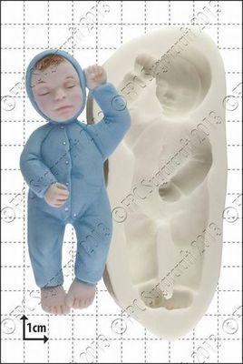 FPC - Sleeping Baby 2 Silicone Μould - Καλούπι Κοιμώμενο Μωράκι 2