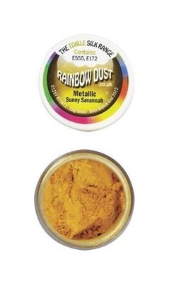 Rainbow Dust Edible Dust -Metallic SUNNY SAVANNAH -Βρώσιμη Σκόνη Μεταλλική Κίτρινο του Ήλιου