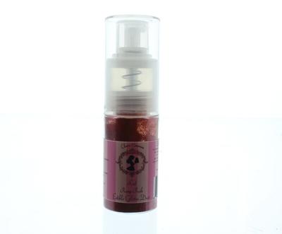 Claire Bowman - Pump Push Edible Glitter Dust Rose Pink 10g - Μπουκαλάκι Αντλίας Βρώσιμη Χρυσόσκονη Κόκκινη - 10γρ