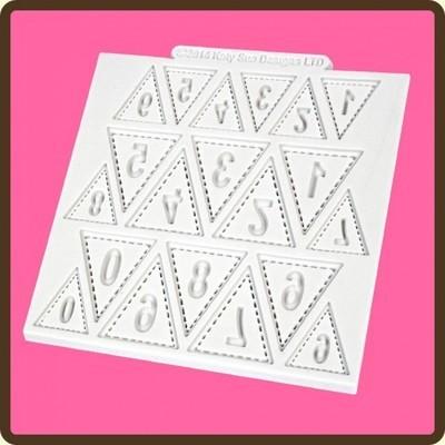 Katy Sue Mould Bunting Numbers -Καλούπι Αριθμοί σε Σημαιούλες