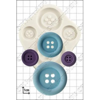 By FPC -Silicone Mould -LARGE BUTTONS -Καλούπι Μεγάλα Κουμπιά