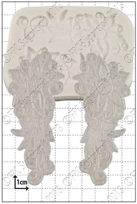 By FPC -Silicone Mould -ESTELLA LACE -Καλούπι Δαντέλα Εστέλλα