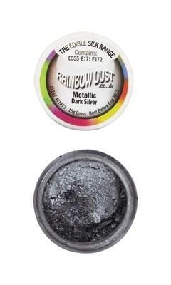 Rainbow Dust Edible Dust -Metallic DARK SILVER -Βρώσιμη Σκόνη Μεταλλική Σκούρο Ασημί