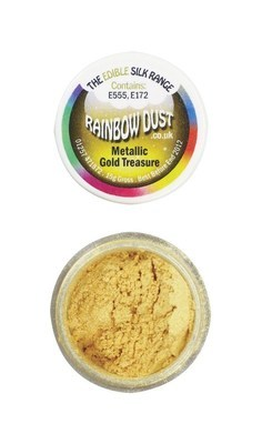 Rainbow Dust Edible Dust -Metallic GOLD TREASURE -Βρώσιμη Σκόνη Μεταλλική Χρυσό Θησαυρό