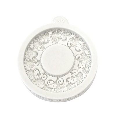 Katy Sue Mould -Miniature Frames Vintage Circle -Καλούπι Μινιατούρα Στρογγυλό Κάδρο