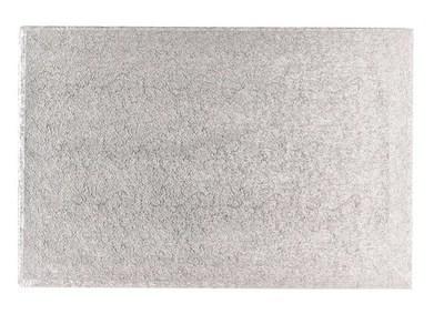 Cake Drum RECTANGLE Silver (16''x12'') - Ασημένια Ορθογώνια Βάση - 40x30εκ