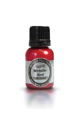 Rainbow Dust Edible Metallic Food Paints -RED -Μεταλλικό Βρώσιμο Χρώμα Ζωγραφική -Κόκκινο 25ml