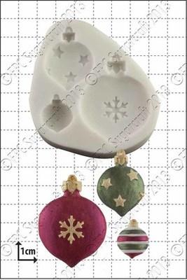 FPC Silicone Mould -CHRISTMAS BAUBLES -Καλούπι Χριστουγεννιάτικες Μπάλες