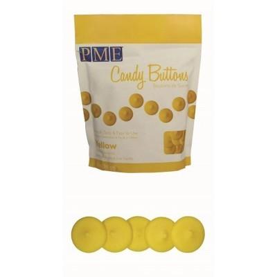 PME - Candy Buttons Yellow Vanilla Flavoured - Κουβερτούρα Γλυκά Κουμπάκια Κίτρινα με Γεύση Βανίλια - 340γρ