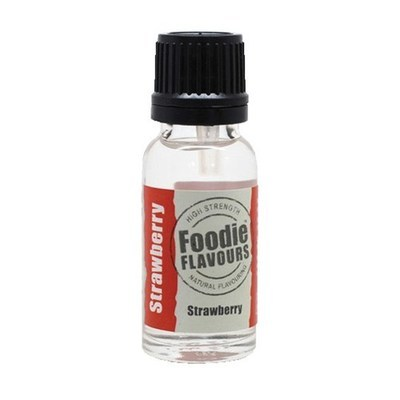 Foodie Flavours Natural STRAWBERRY Flavouring -Φυσικό Άρωμα με Γεύση Φράουλα 15ml
