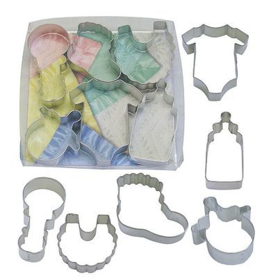 By AH -Set of 6 Cookie Cutters 'BABY' -Κουπάτ Μωρουδίστικα σετ 6 Τεμαχίων 7.5-10εκ