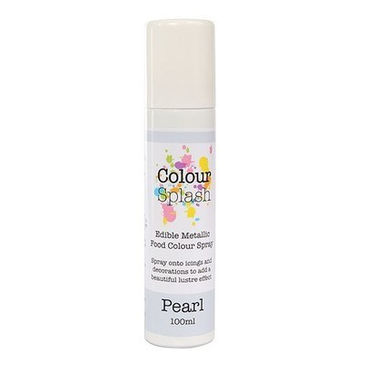 Colour Splash Edible SPRAY -PEARL 100ml Βρώσιμο Σπρέϊ με Χρώμα -Περλέ
