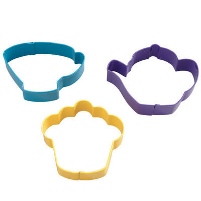 Wilton Cookie Cutter Set of 3 -TEA PARTY -Σετ 3 Κουπάντ Τσαΐ Παρτυ