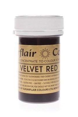 Sugarflair Paste Colours -VELVET RED -Χρώμα Πάστα -Βαθύ Κόκκινο