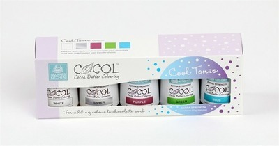 Squires Kitchen - Extra Strength Cocol Set (Cool Tones) -Σετ 5 χρωμάτων για σοκολάτα & Candy Melts/Buttons -(ψυχρά χρώματα)