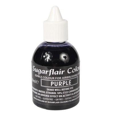 Sugarflair Airbrush Colour -MATT PURPLE -Μωβ -Χρώμα Αερογράφου 60ml