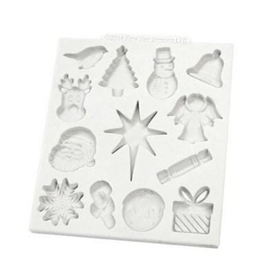 Katy Sue Silicone Mould -CHRISTMAS EMBELLISHMENTS -Καλούπι Χριστουγεννιάτικα Στολίδια