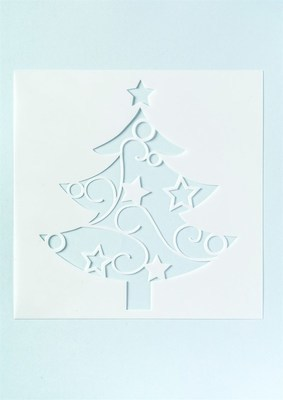 Culpitt Stencil -CHRISTMAS TREE (for Full Cake) -Στένσιλ Χριστουγεννιάτικο δέντρο