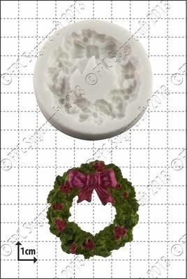 FPC Silicone Mould -HOLLY WREATH -Καλούπι Γιορτινό Στεφάνι