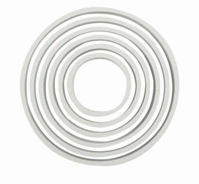 PME Basics -Set of 6 -ROUND/CIRCLE Cutters 6pcs -Βασική Σειρά Κουπάτ Στρογγυλά/Κύκλοι 6 τεμ