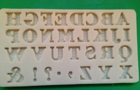 by The Sugar Tales -Alphabet Mould -Καλούπι Σιλικόνης Λατινική Αλφάβητο