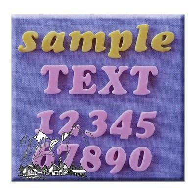 Alphabet moulds -COOKIE ALPHABET & NUMBERS -Καλούπι Αλφάβητο & Αριθμοί
