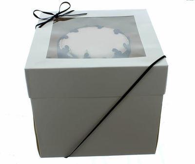 Extra Deep Cake Box With Window 40εκ- Βαθύ Κουτί με Διάφανο Καπάκι με Ύψος 30εκ