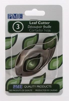 PME - Basics Leaf Cutters 3pcs - Βασική Σειρά Κουπάτ Φύλλα - 3τεμ - 1.5 + 2.5 + 4εκ