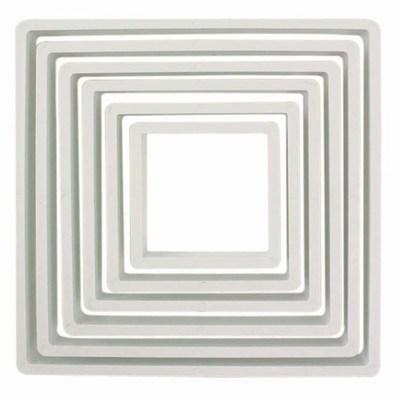PME Geometric Basics -Set of 6 -SQUARE Cutters 6pcs -Βασική Σειρά Κουπάτ Τετράγωνα 6 τεμ
