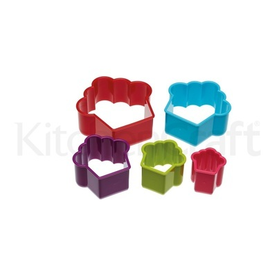 Colourworks Set of 5 Cookie Cutters -CUPCAKES -Πλαστικά Κουπάτ σχήμα Cupcake 5 τεμ.