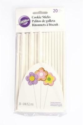 Wilton Paper Cookie Sticks 15cm -Χάρτινα ραβδάκια για μπισκότα 15εκ- (20 τμχ)